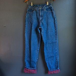 Vintage Flannel Lined L.L. Bean Denim Pants